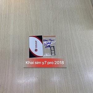 Khai sim thẻ nhớ Huawei Y7 Pro 2018
