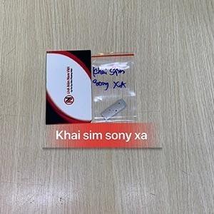 Khai sim Sony XA