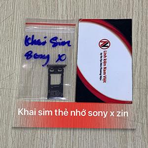 Khai sim thẻ nhớ Sony X